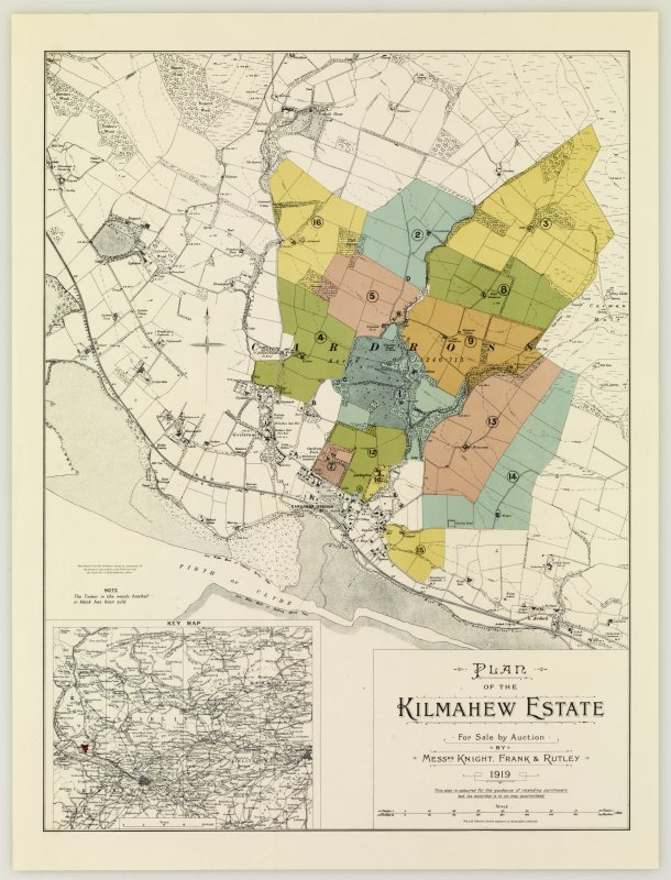 Plan of the Kilmahew Estate in 1919.