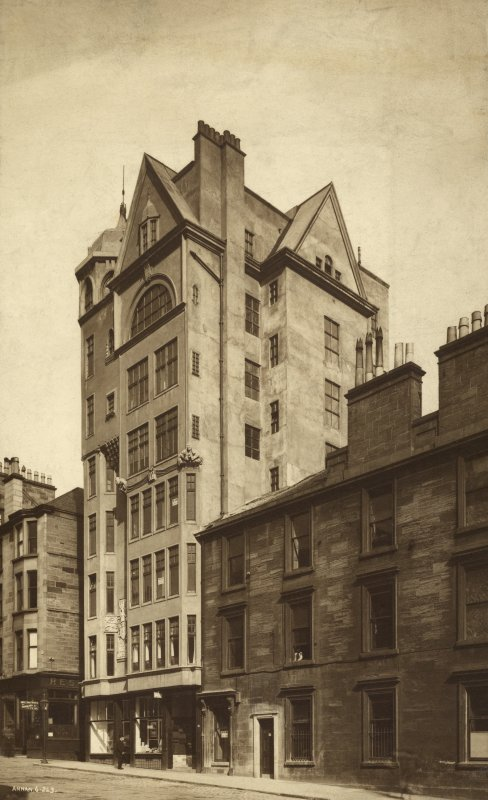 View of front elevation of the Lion Chambers, Glasgow.