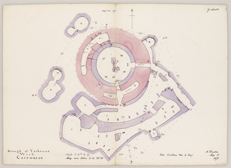 Plan of Yarrows broch site.