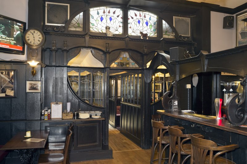 View of bar area, The Bull Inn, Paisley
