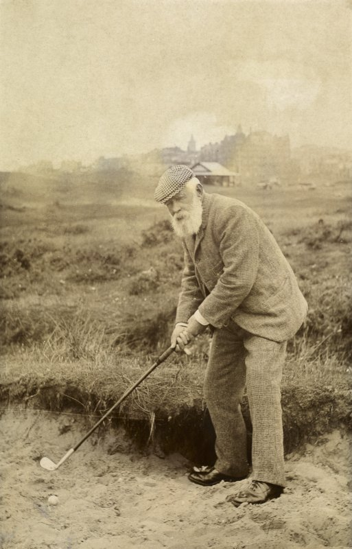 View of Tom Morris at the Old Course in St Andrews.