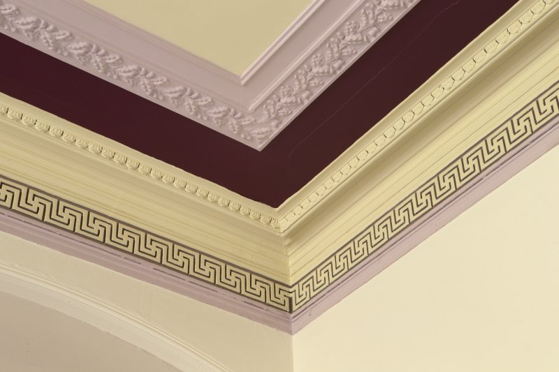 1st floor. Dining room. Detail of cornice.