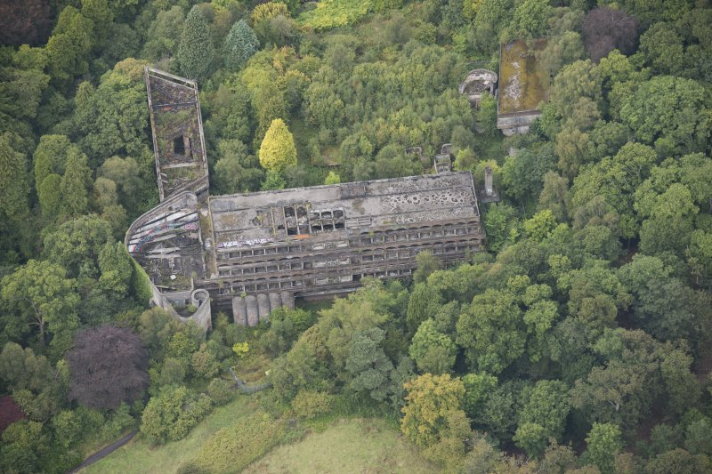 Oblique aerial view of St Peter's College, looking NW.