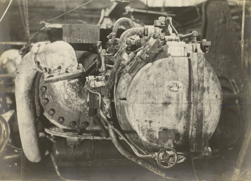 German battleship SMS Baden. Starboard tube. Side door.