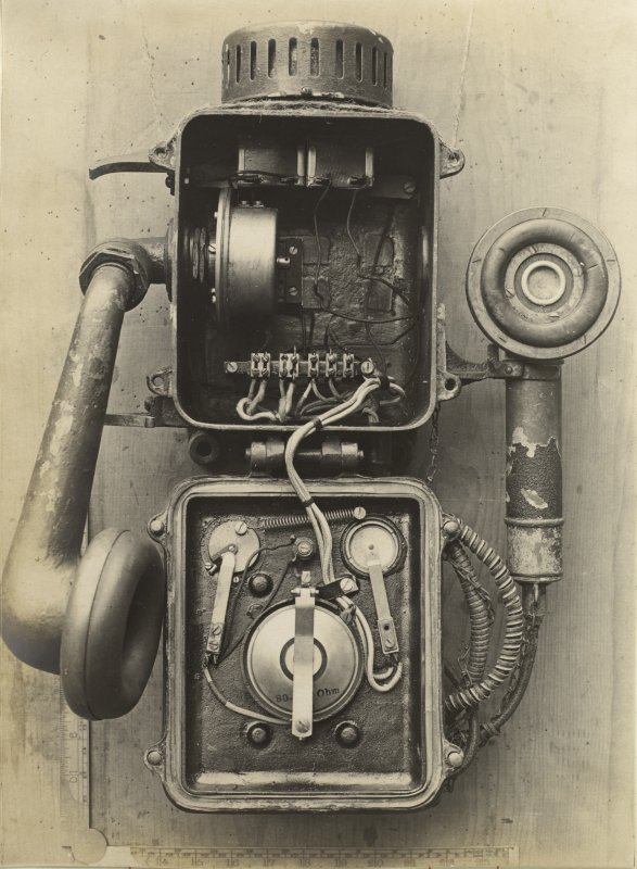 German battleship SMS Baden. Turret Telephone.