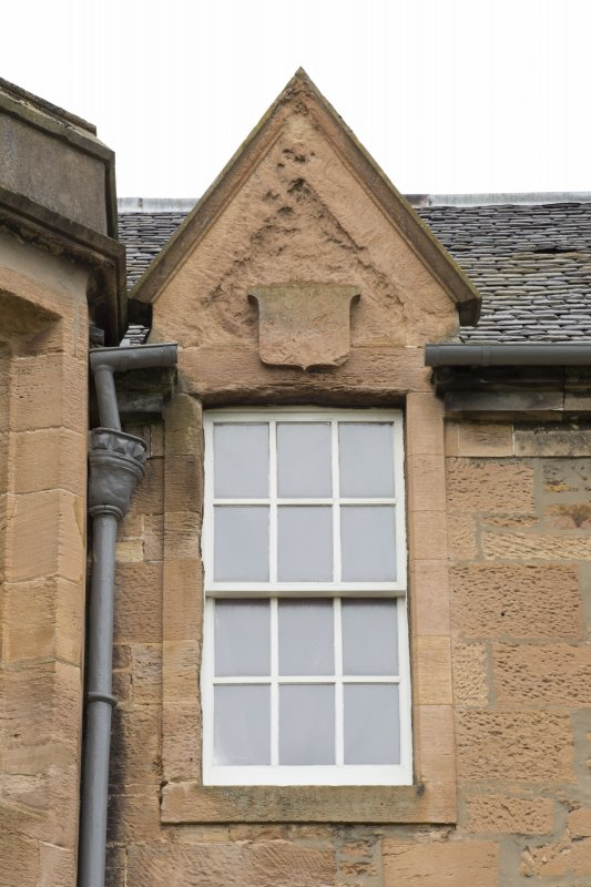 Detail of dormer window on south front.