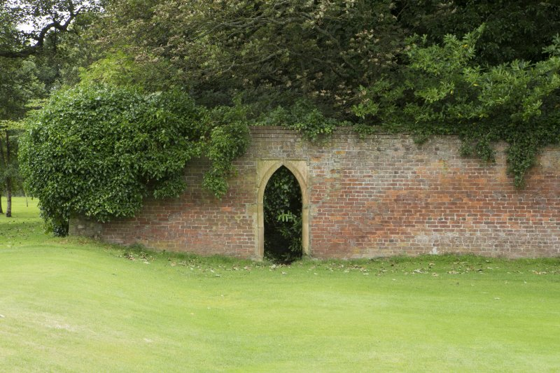 Walled garden. Arched entrance from north.