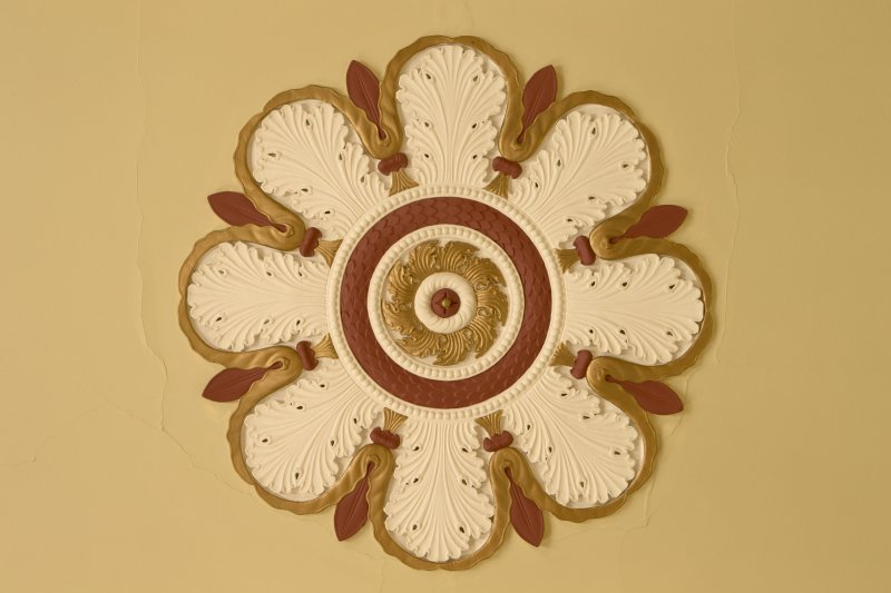1st floor. Members lounge. Detail of ceiling rose.