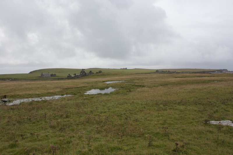 General view of farmsteads, Swona, looking S.
