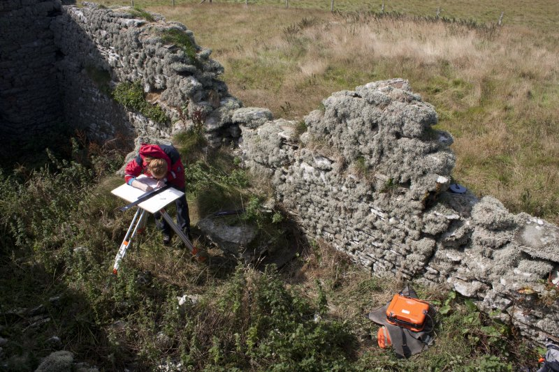 Tafts, Quendal; view of NW wall and interior during survey.