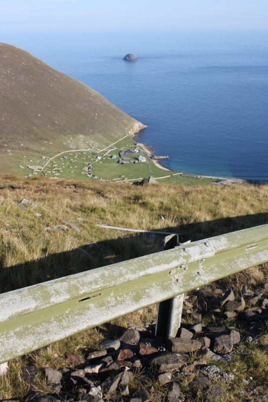 General view of Village Bay and Levenish, St Kilda, from the road to Mullach Mor.