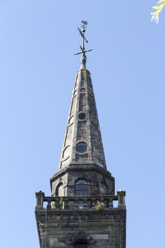 Detail of steeple from North East.