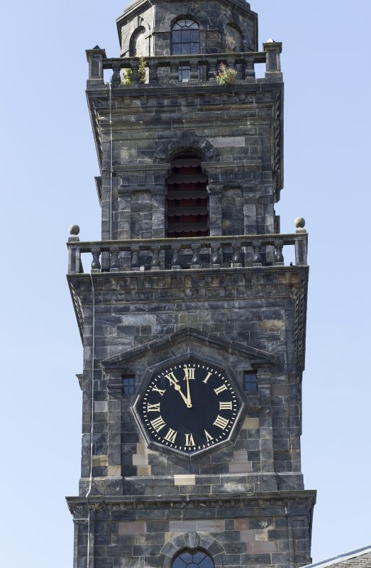 Detail of clock tower from North East.
