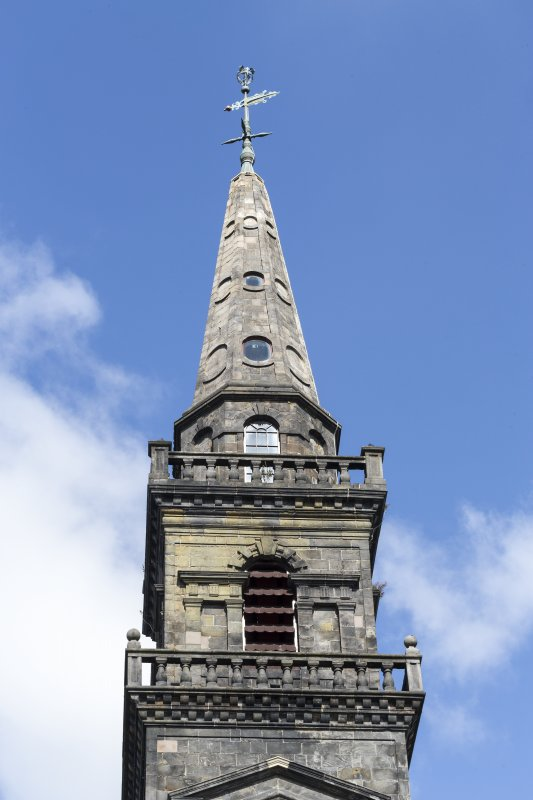 Detail of steeple from Church Hill.