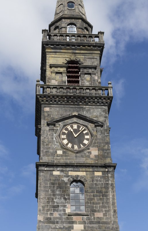 Detail of clock tower from Church Hill.