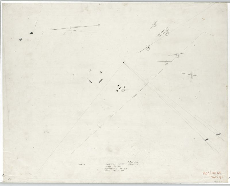 Survey drawing; Nether Largie standing stones, plan.