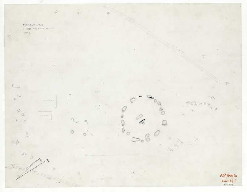 Plane-table survey; Temple Wood. Sheet 2.