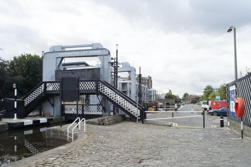 General view of Leamington Lifting Bridge and New Lochrin Basin, Union Canal, Edinburgh, from the east
