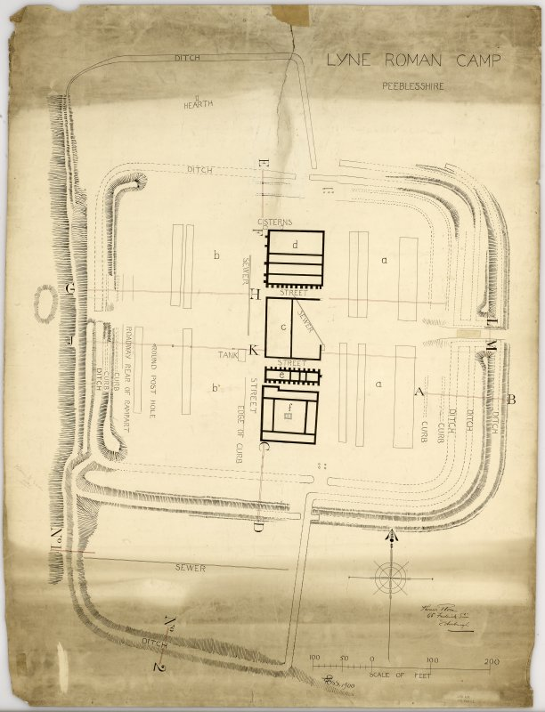 Plan of Lyne Roman fort.