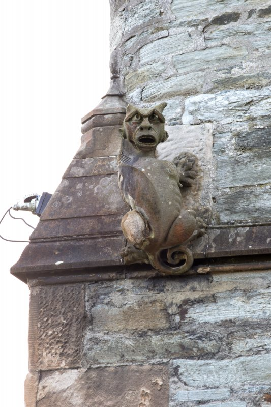 Detail of gargoyle at north east corner of building, Burgh Halls, Dunoon