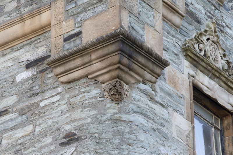 Detail of corbel boss on north east corner