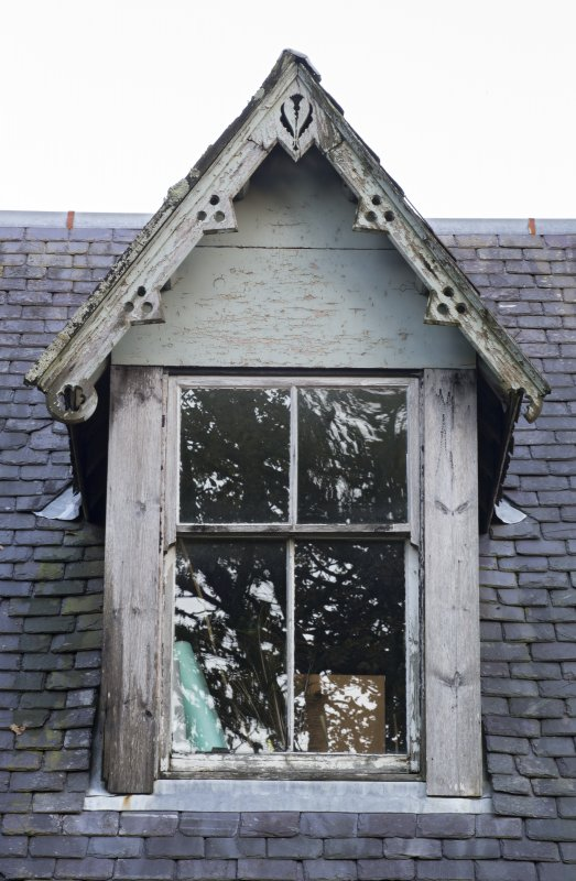 Detail of dormer to west side of south east range