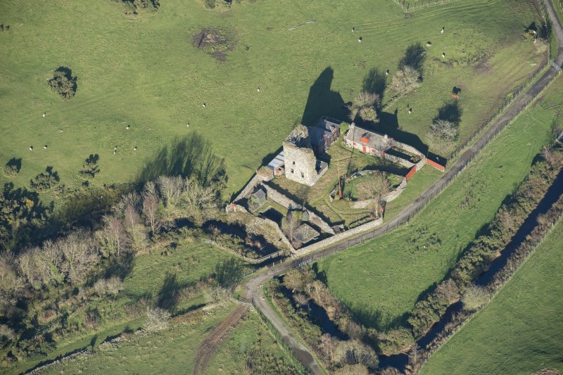 Oblique aerial view of Castle Stewart, looking NE.