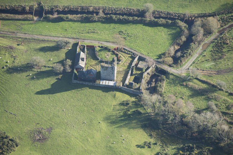 Oblique aerial view of Castle Stewart, looking SSE.