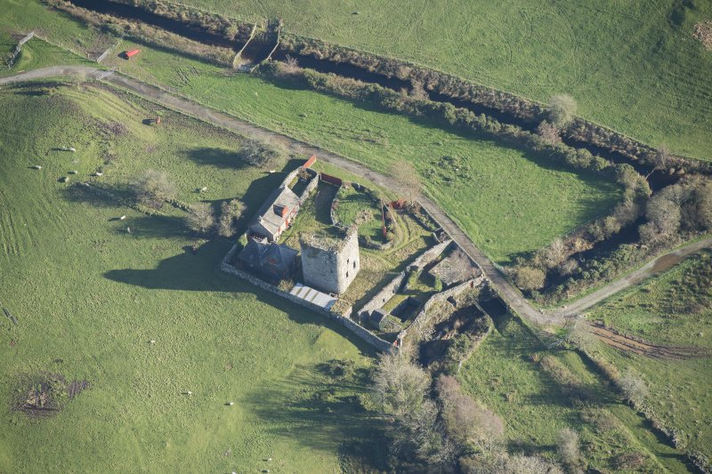 Oblique aerial view of Castle Stewart, looking ESE.
