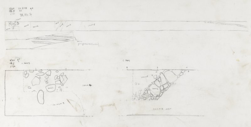 Drawing no 7. Plan of Trench J