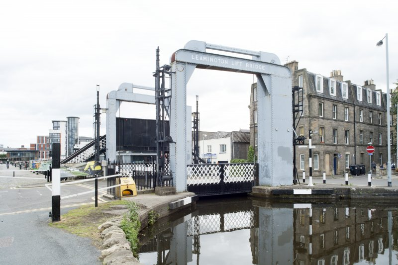 General view of Leamington Lifting Bridge, Union Canal, Gilmore Park, Edinburgh, from the north-west