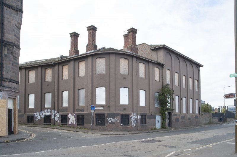 General view of the former North British Rubber Company, Gilmore Park, Edinburgh, from the north-east
