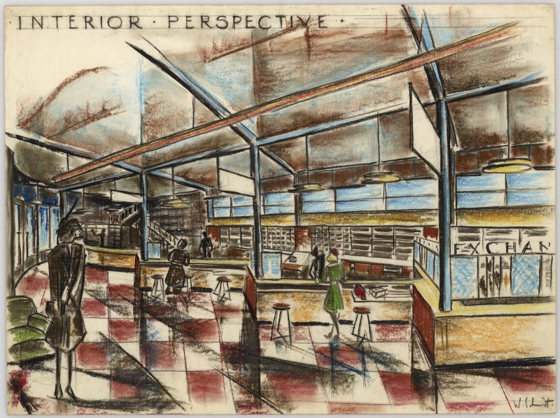 General Travelling Agency, interior perspective