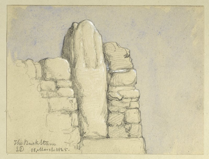 Drawing of The Buck Stane.