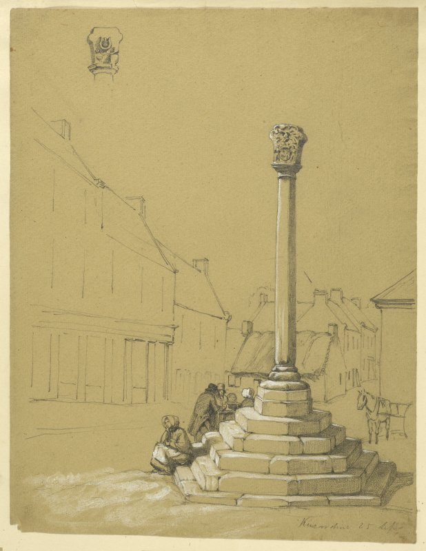 Drawing of Kincardine Market Cross.