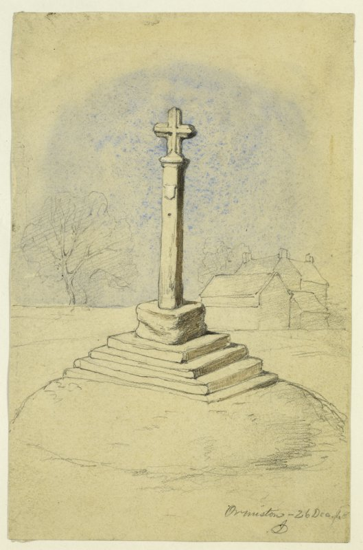 Drawing of Ormiston Market Cross.