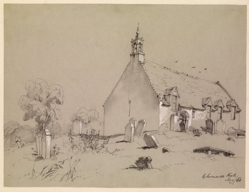 Drawing of Chirnside Church.