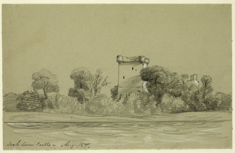 Drawing of Loch Leven Castle.
