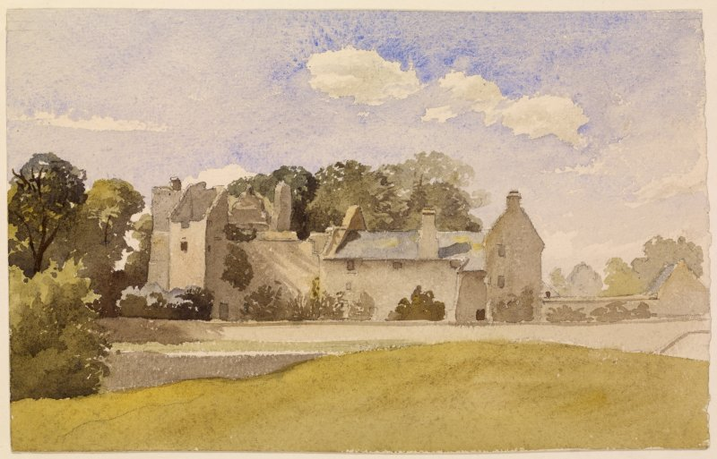 Drawing of Aberdour Castle.