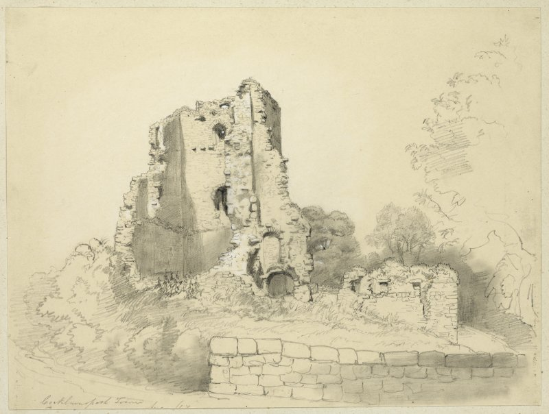 Drawing of Cockburnspath Tower.