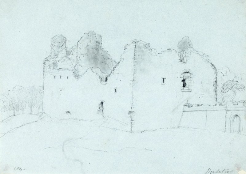 Drawing of Dirleton Castle.