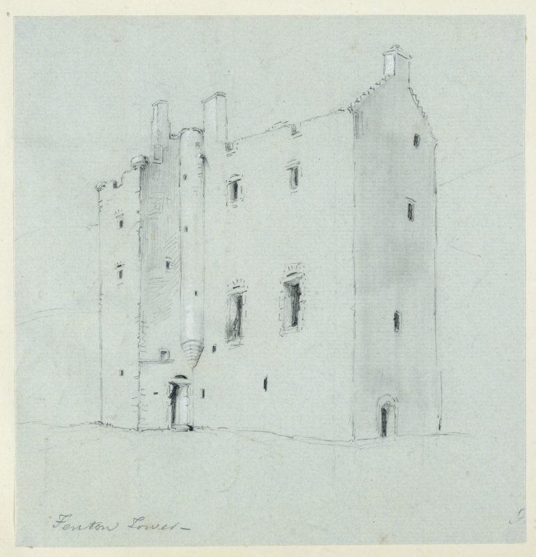 Drawing of Fenton Tower.