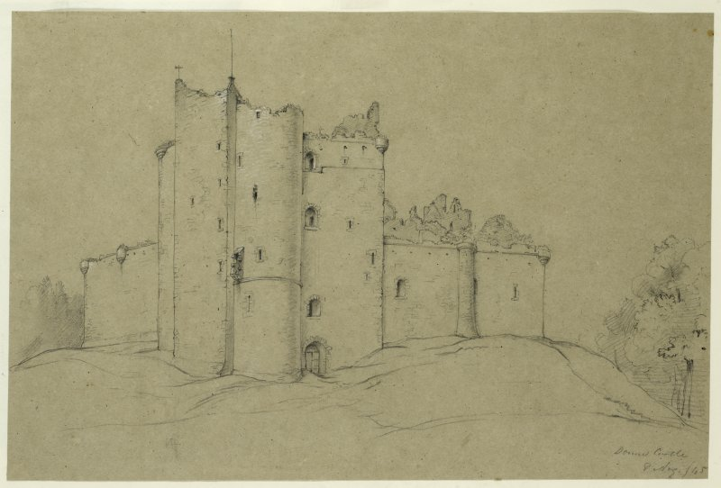 Drawing of Doune Castle.