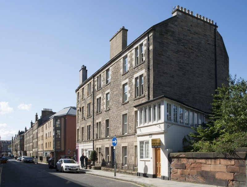 General view of Grove Street, Edinburgh, taken from south.