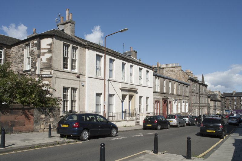 General view of Grove Street, Edinburgh, taken from south-east.