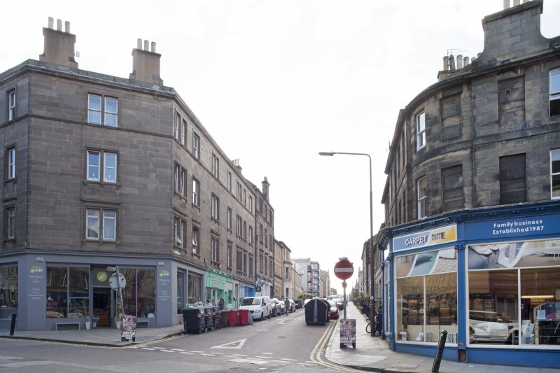 General view of Grove Street, Edinburgh, taken from north.