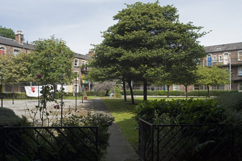 General view of the internal courtyard of Rosemount Buildings, Gardner's Crescent, Edinburgh, taken from the south-west.