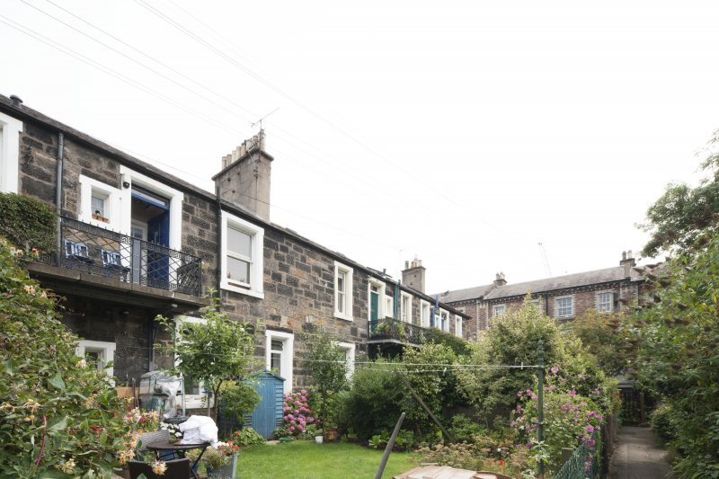 General view of 1-8 Rosebank Cottages, Gardner's Crescent, Edinburgh, taken from the north-west.