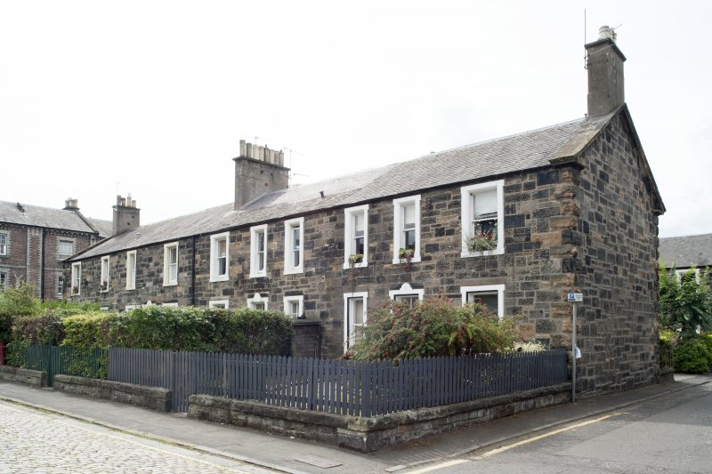 General view of 1-8 Rosebank Cottages, Gardner's Crescent, Edinburgh, taken from the north-east.