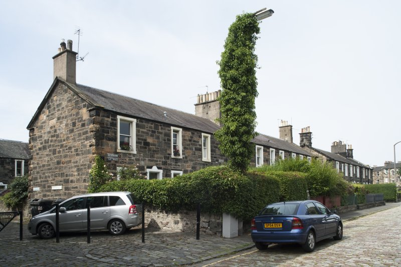 General view of 1-8 Rosebank Cottages, Gardner's Crescent, Edinburgh, taken from the south-east.